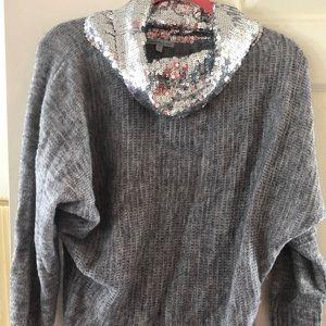 Sparkly neck sweater